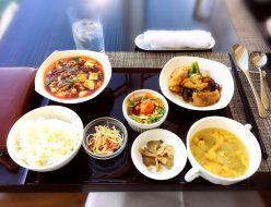 「チョイスランチ 1,500円」麻婆豆腐・豚肉のあっさり炒め・ご飯・ザーサイ・本日のスープ・サラダ